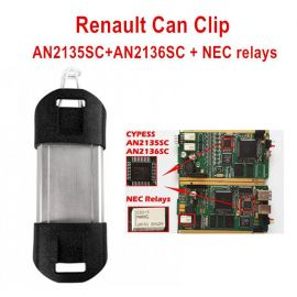 (Europe Ship) QualityA CAN Clip V202 For Renault Diagnostic Interface With Full Chip AN2131SC AN2136SC