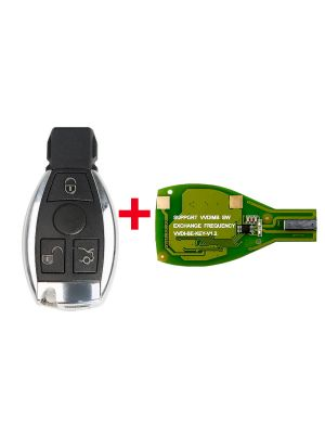 Xhorse VVDI BE Key Pro Improved Version with Smart Key Shell 3 Button for Mercedes Benz Complete Key Package Can get token for MB BGA