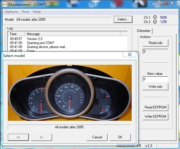 ford km obd tools software display