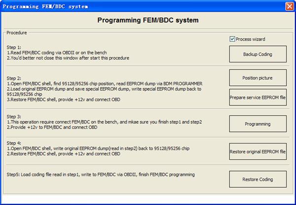 VVDI2 BMW FEM & BDC Functions steps-1